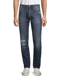 Jean Shop - Mick Distressed Cotton Jeans - Lyst