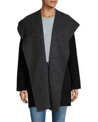 Vince - Hooded Open Front Coat - Lyst
