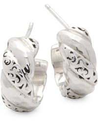 Lois Hill - Signature Scroll Sterling Silver Stud Earrings - Lyst