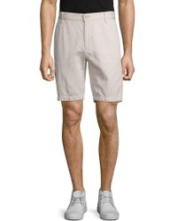7 For All Mankind - Cotton-linen Chino Shorts - Lyst