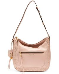Cole Haan - Marli Stud Leather Hobo Bag - Lyst