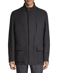 Luciano Barbera - Checked Wool Car Coat - Lyst