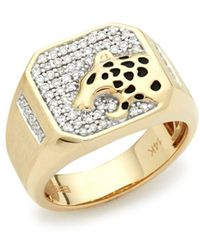 Effy - Diamond And 14k Yellow Gold Ring - Lyst