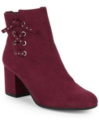 Circus by Sam Edelman - Vinnie Lace-up Booties - Lyst