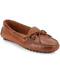 Cole Haan - Lace Tie Leather Driver Loafers - Lyst