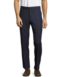 Santorelli - Virgin Wool Straight-leg Trousers - Lyst