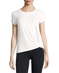 Marc New York - Knotted Short-sleeve Tee - Lyst