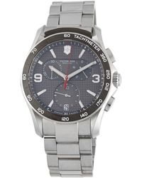 Victorinox - Stainless Steel Chronograph Bracelet Watch - Lyst