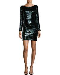 Dress the Population - Lola Roundneck Textured Dress - Lyst