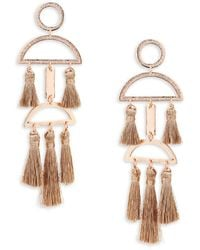 Natasha Couture - Textured Tassel Earrings - Lyst