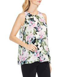 Vince Camuto - Sleeveless Glacier Floral Blouse - Lyst
