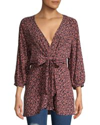 Free People - Clara Floral Printed Tunic - Lyst