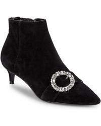 Charles David - Adora Crystal Buckle Ankle Boots - Lyst