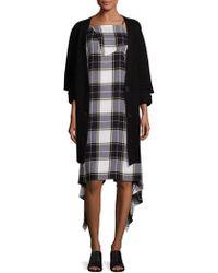 Public School - Toni Cutout Rib-knit Cardigan - Lyst