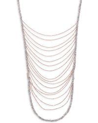 Shoshanna - Waterfall Layered Necklace - Lyst