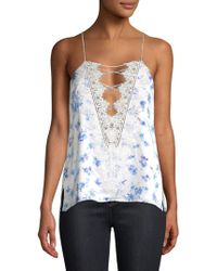 Cami NYC - Charlie Silk Lace-up Floral Camisole - Lyst
