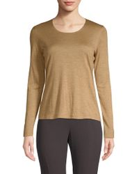 Akris - Cashmere-blend Long-sleeve Top - Lyst