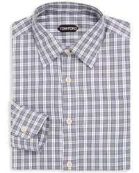 Tom Ford - Plaid Cotton Dress Shirt - Lyst