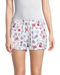 Jane And Bleecker - Printed Pull-on Shorts - Lyst