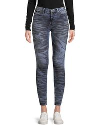 Robin's Jean - Buttoned Washed Jeans - Lyst