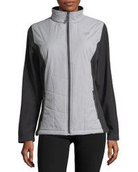New Balance - Mockneck Zip Front Jacket - Lyst