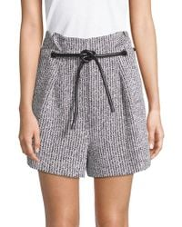 3.1 Phillip Lim - Two-piece Origami Pleated Shorts And Belt - Lyst
