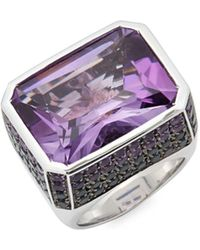 Roberto Coin - Amethyst And 18k White Gold Colored Dreams Ring - Lyst