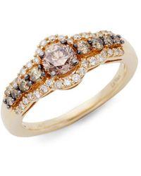 Le Vian - Chocolatier® Chocolate Diamonds® And Vanilla Diamonds® 14k Honey Goldtm Ring - Lyst