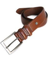 Boconi - Double Loop Leather Dress Belt - Lyst