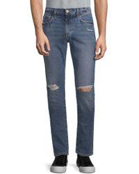 Joe's Jeans - Slim-fit Distressed Jeans - Lyst