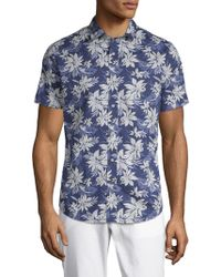 Slate & Stone - Floral Short-sleeve Cotton Button-down Shirt - Lyst