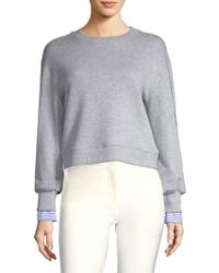 Derek Lam - Shirting Crewneck Sweater - Lyst