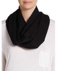 Saks Fifth Avenue Black - Solid Cashmere Scarf - Lyst