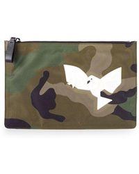 Valentino - Camouflage Graphic Pouch - Lyst