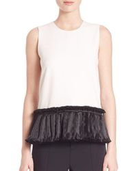 Opening Ceremony - Ruffle Stone Tank Top - Lyst