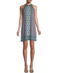 Max Studio - Printed Halter Dress - Lyst