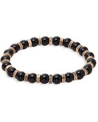 Perepaix - Black Obsidian Beaded Bracelet - Lyst