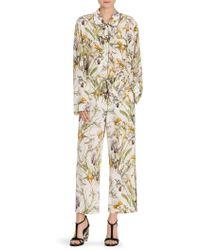 Alexander McQueen - Floral-print Silk Pajama Top - Lyst