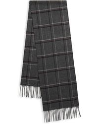 Saks Fifth Avenue - Cashmere Plaid Scarf - Lyst