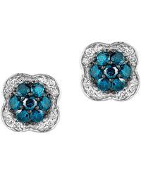 Le Vian - 14k Vanilla Gold Vanilla & Blueberry Diamond Exotics Earrings - Lyst