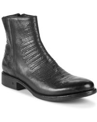 John Varvatos - Simmons Leather Ankle Boots - Lyst