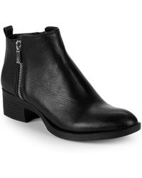 Kenneth Cole - Lonnie Leather Zip Chelsea Boots - Lyst