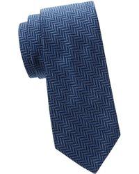 Saks Fifth Avenue - Herringbone Silk Tie - Lyst