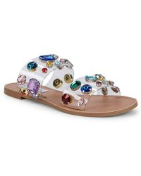 Steve Madden - Jazlyn Embellished Two-band Sandals - Lyst