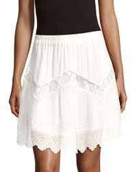 IRO - Cutout Scalloped Skirt - Lyst