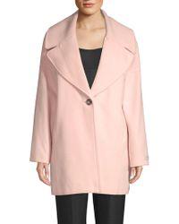 Calvin Klein - Oversized Single Button Coat - Lyst
