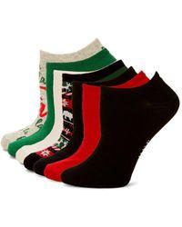 Hue - 7-pair Cotton Liner Sock Set - Lyst
