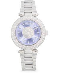 edeca8bfa7e Versus - Crystal Bezel Logo Stainless Steel Bracelet Watch - Lyst