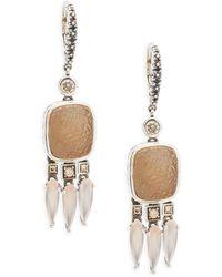 Stephen Dweck - Carved Sterling Silver Drop Earrings - Lyst