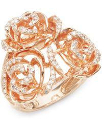 Effy - Diamond & 14k Rose Gold Solid Fill Statement Ring - Lyst